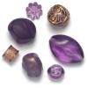 Lucite Assorted Medium Beads Amethyst - 42 Grams